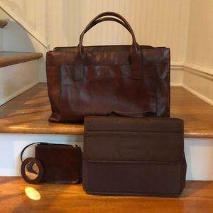 EUC Leather Briefcase 💼